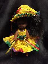 Kelly Doll Crochet Mardi Gras Outfit- By Niko