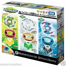 BEYBLADE BURST B-22 CUSTOM SET DEFENCE AND STAMINA WITH LAUCHER_ BB83343