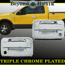 2004-2014 FORD F-150 F150 Chrome Door Handles Cover With Psgr Key WithOut Keypad