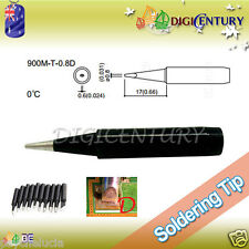 High Quality Soldering Iron Tips Real Lead Free 900M-T-0.8D Black