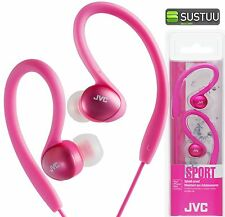 JVC HAEBX5 Splash Proof Sports In Ear Clip Pink Headphones for iphone Android