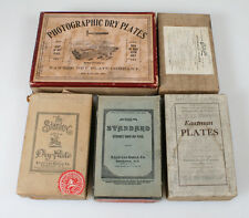 PHOTOGRAPHIC DRY PLATE BOX LIDS - SET OF FIVE