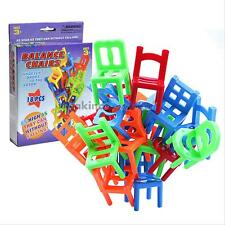 18Pcs Chair Stack Game Stacking Chair Balance Puzzle Gift Kids Educational Toy