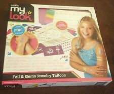 Cra-Z-Art My Look Foil and Gems Jewelry Tattoos Set Ages Shimmering Body Art