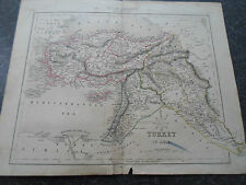 Antique Map TURKEY IN ASIA  - From The College Atlas For Schools+Families 1860