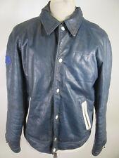 VTG Varsity Cuir Motorcycle Biker Leather Jacket Size 44 10430