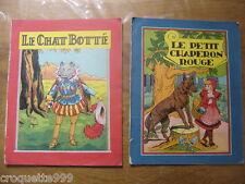 CHAT BOTTE CHAPERON ROUGE CENDRILLON Ed R Touret 1936 Illus  Thomen - Le Rallic