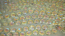 Joblot 10 strings clear Oval faceted 25mm & 15mm Crystal beads new wholesale