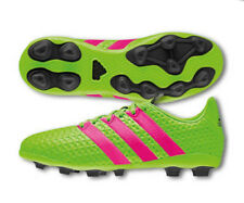 adidas Ace 16.4 FXG Youth Soccer Cleats Shoes Black Green Pink Boys Size 2.5 NEW