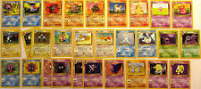 LOT OF 29 ( 6 RARE & 2 HOLO FOILS ) ORIGINAL POKEMON CARDS FROM 73-97 **