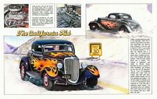 The California Kid Coupe Movie Color Art PRINT 1934 Ford Hot Rod Gasser Custom