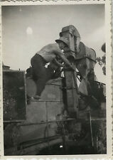 PHOTO ANCIENNE - VINTAGE SNAPSHOT - TRAVAIL ENGIN AGRICULTURE MACHINE MOISSONS