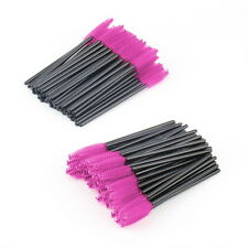 100 PCS Disposable Eyelash Mini Brush Mascara Wand Applicator Spooler Makeup #U