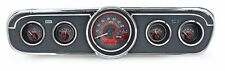 1965-66 Ford Mustang Dakota Digital Carbon Fiber & Red VHX Gauge Kit