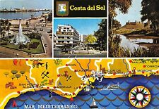 BG6373 costa del sol mar mediterraneo car voiture map cartes geographiques spain