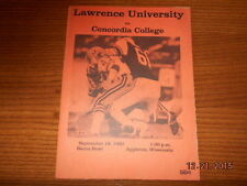 1982 Lawrence University vs Concordia College Sep 18 Appleton Wisconsin Football