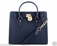 Michael Kors Bag 30S2GHMT3L MK Hamilton Large Leather North South Tote Navy