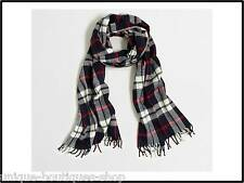 J Crew Factory Plaid Scarf Navy/White $49.50 NWT! SOLD OUT
