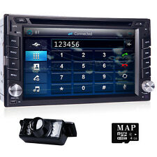 6.2''GPS Nav Double 2 DIN Car In Deck DVD Player Radio Bluetooth BT 3G TV+Camera