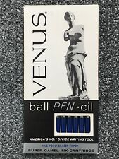 12 Vtg VENUS Ball Pen-cil Super Camel Ink-Cartridge Fine Point Eraser Tip NIB