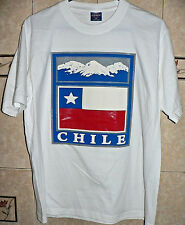 CHILE NATIONAL FLAG SPORT FAN ENTHUSIASTIC T-SHIRT SMALL SIZE