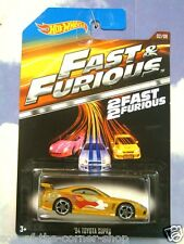2015 hot wheels fast & furious slap et Jack's 1994 TOYOTA SUPRA en or F&F 2