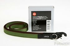 CARRYING STRAP ARTISAN & ARTIST FOR LEICA, SILK GREEN, BRAND NEW IN BOX. (14884)