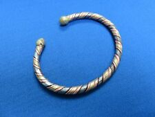 MALI African Ethnic Jewelry BRASS AND COPPER TWISTED BRACELET B