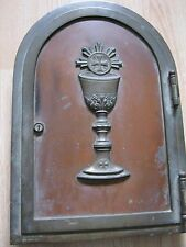 bronze brass door antique chalice for church cup w/ cross old tabernacle 16 1/2