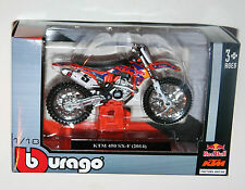 Burago - KTM 450 SX-F (#5) Red Bull Factory Racing - Motorcycle Model Scale 1:18