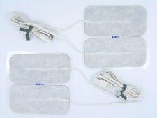 TENS ELECTRODE PADS AND TENS LEAD WIRES FOR MAMA TENS MACHINES x 4 PADS 10cm x 5
