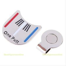 Silver Golf Ball Marker Putting Alignment Aiming Tool with Magnetic Hat Clip