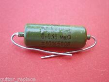 Condensador 0.033 uF 500V Capacitor Aceite Paper In Oil PIO NOS Caps
