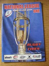 2008/2009 Rugby Union: National League One, Club Guide Issued By The Rugby Times