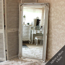 Extra Large silver Wall Floor Ornate Mirror bedroom hall living room vintage