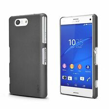 Exact SimpleShell Durable Rubber PC Shell Case for Sony Xperia Z3 Compact Black
