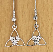Irisch  Celtic Ohrhänger Schmuck  Keltische Dreiheit Triquetra  Dreifaltigkeit