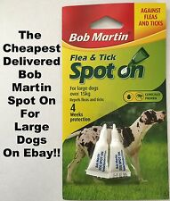 BOB MARTIN SPOT ON Flea And Tick Treatment LARGE DOGS Over 15kg
