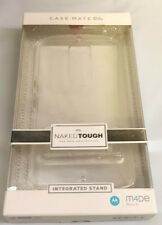 Case Mate Naked Tough Dual Layer Protection Case Integrated Stand Nexus 6 Clear