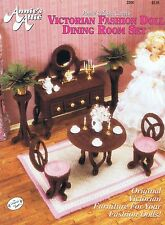 Fashion Doll (Barbie etc.) Dining Room Plastic Canvas Cross Stitch Chart