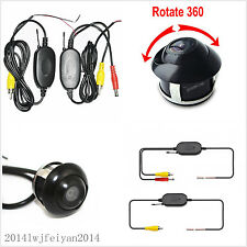 Wireless 2.4G Transmitter/Receiver Car Rear View Reversing 360° Rotatable Camera