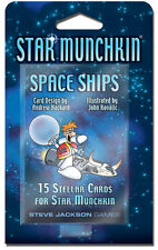 Star Munchkin Space Ships Card Game Expansion Adds 15 Cards Booster SJG 4214