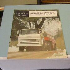 1965 Chevrolet Trucks Medium & Heavy Duty Diesel Models Advertising Brochure