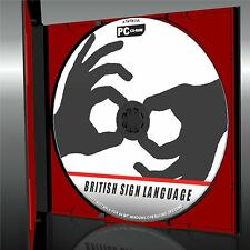 LEARN BRITISH SIGN LANGUAGE DEAF, EASY TO USE SIGNING TUITION NEW PC CD ROM