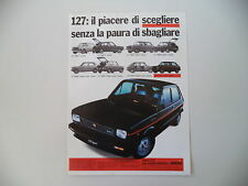 advertising Pubblicità 1979 FIAT 127 SPORT 70 HP