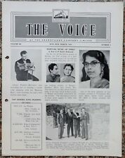 India THE VOICE March 1960 HMV Magazine - JOHNNY PRESTON