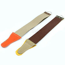 LEATHER SHARPENING CANVAS STROP BARBER OPEN STRAIGHT RAZOR FASHION SHAVE TOOL