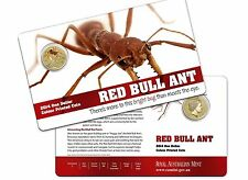 AUSTRALIA: 2014 $1 Bright Bugs - Red Bull Ant UNC  Colour LIMITED MINTAGE 30,000