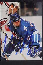 Claude Lapointe Nordiques Autograph 1992 Pro Set #267 Hockey Card JSA 16H