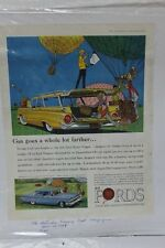 "Vtg Automobile Advertisement 11 X 14"" 1959 Ford Custom 300 Tudor Sedan  (A87)"